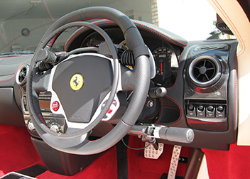 Ferrari F430 Electric Over Ring Accelerator & Brake fitted by David Relph Vehicle Adaptations