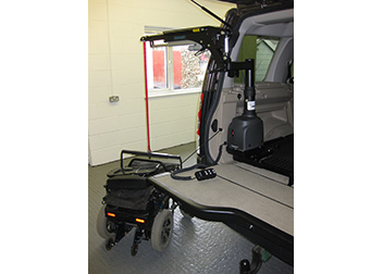 Range Rover 180kg Side Loading Hoist fitted by David Relph Vehicle Adaptations