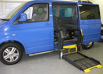 VW Caravelle Side Lift fitted by David Relph Vehicle Adaptations