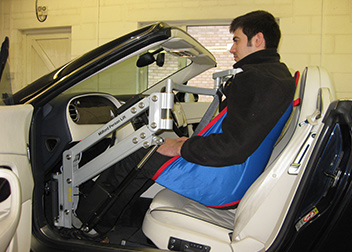 Bentley Continental GT Convertible Person Lift fitted by David Relph Vehicle Adaptations